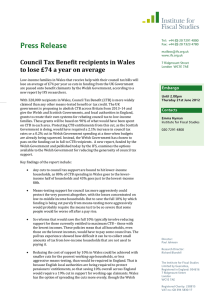 Press Release Council Tax Benefit recipients in Wales