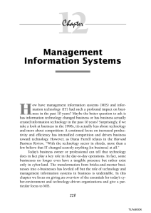 12 H Management Information Systems