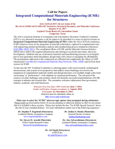 Integrated Computational Materials Engineering (ICME) for Structures Call for Papers