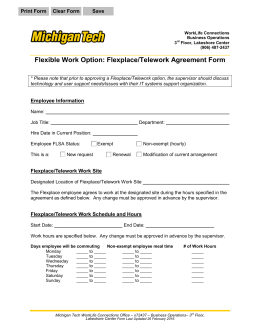 Flexible Work Option Flexplace Telework Agreement Form