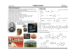 Liebigs Annalen 1. Historical Background 2. Never cited
