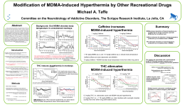 Modification of MDMA-Induced Hyperthermia by Other Recreational Drugs Michael A. Taffe