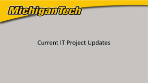 Current IT Project Updates