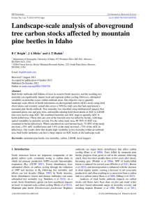 Landscape-scale analysis of aboveground tree carbon stocks affected by mountain