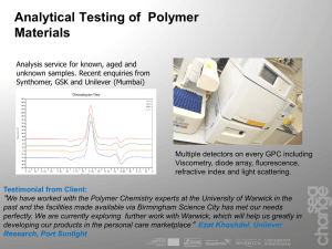 Analytical Testing of  Polymer Materials