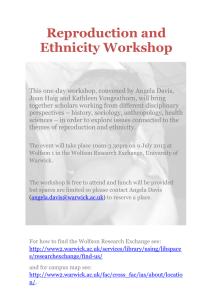 Reproduction and Ethnicity Workshop