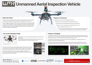 Unmanned Aerial Inspection Vehicle About the Project Progress on Autonomy