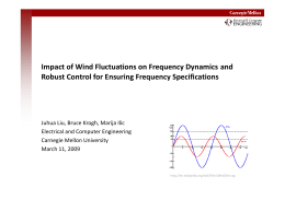 Impact of Wind Fluctuations on Frequency Dynamics and  Robust Control for Ensuring Frequency Specifications