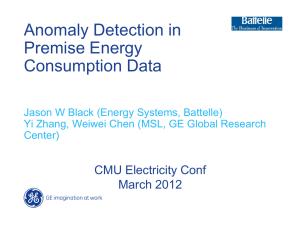 Anomaly Detection in Premise Energy Consumption Data