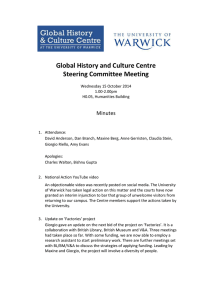 Global History and Culture Centre Steering Committee Meeting  Minutes