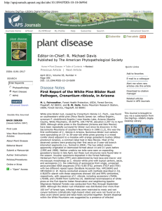 Editor-in-Chief: R. Michael Davis Published by The American Phytopathological Society