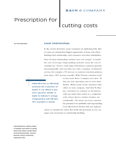 Prescription for cutting costs