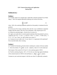 22.54  Neutron Interactions and Applications (Spring 2002) Problem Set No. 2