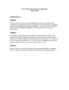 22.54  Neutron Interactions and Applications (Spring 2002) Problem Set No. 6