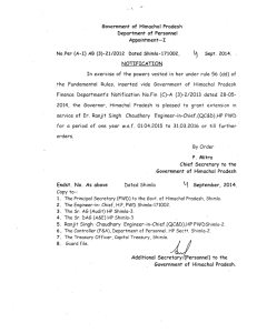 Government of Himachal Pradesh Department