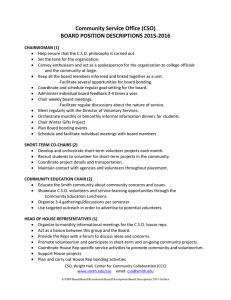 Community Service Office (CSO)  BOARD POSITION DESCRIPTIONS 2015‐2016