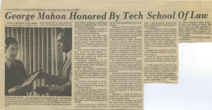 George Honored Tech Of Law