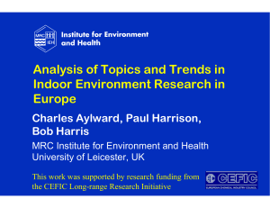 Analysis of Topics and Trends in Indoor Environment Research in Europe