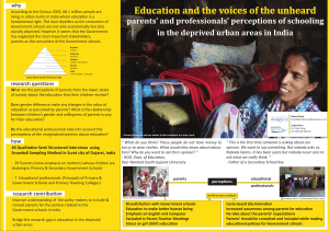 Education and the voices of the unheard  why
