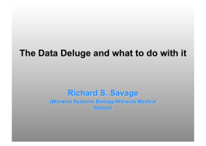 The Data Deluge and what to do with it