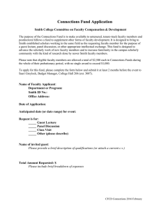 Connections Fund Application  Smith College Committee on Faculty Compensation & Development