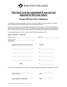 This form is to be completed if you are not