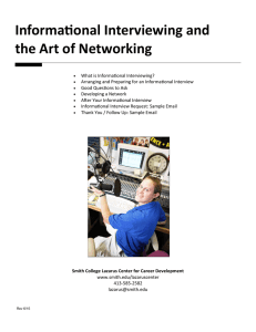 Informational Interviewing and the Art of Networking