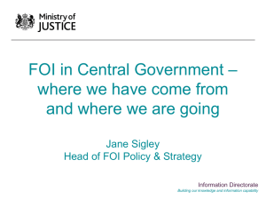 – FOI in Central Government where we have come from
