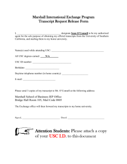 Marshall International Exchange Program Transcript Request Release Form