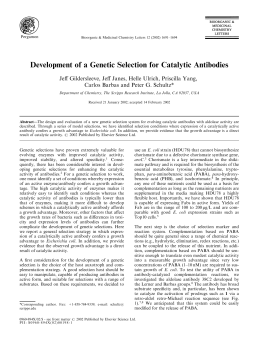 Development of a Genetic Selection for Catalytic Antibodies