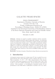 GALACTIC PHASE SPACES