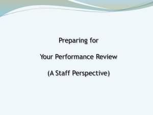 Preparing for Your Performance Review (A Staff Perspective)