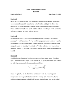 22.101 Applied Nuclear Physics (Fall 2004) Problem Set No. 3