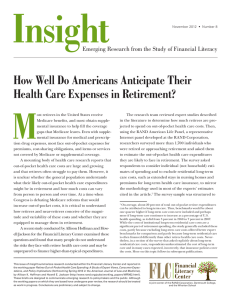 Insight M How Well Do Americans Anticipate Their Health Care Expenses in Retirement?