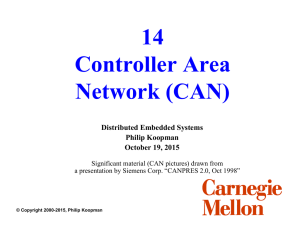 14 Controller Area Network (CAN) Distributed Embedded Systems