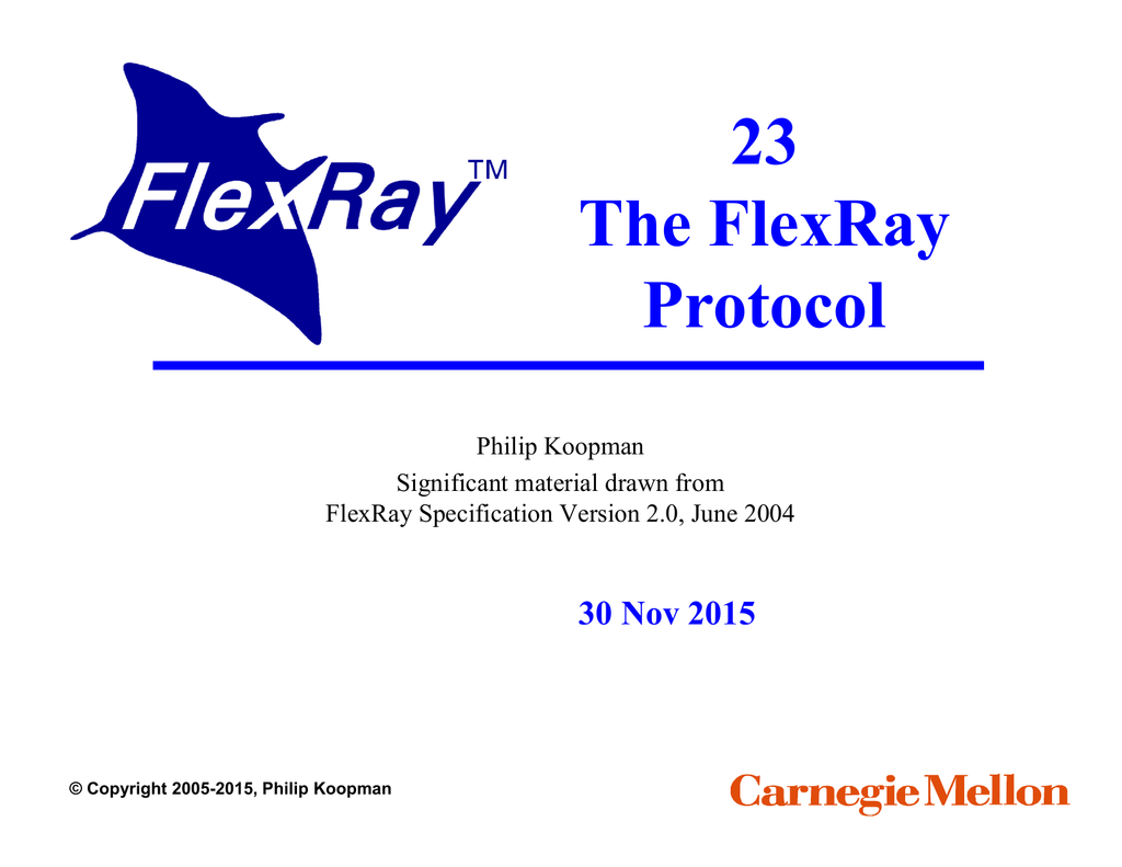 FLEXRAY PROTOCOL SPECIFICATION PDF