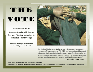 THE VOTE FILM A documentary