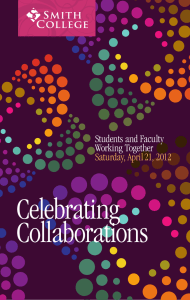 Celebrating Collaborations Students and Faculty Working Together