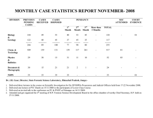 MONTHLY CASE STATISTICS REPORT NOVEMBER- 2008