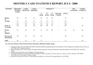 MONTHLY CASE STATISTICS REPORT JULY- 2008