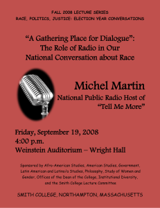 "Michel Martin ""A Gathering Place for Dialogue"": National Conversation about Race"