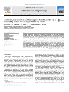 Mechanical, microstructural and fracture properties of dissimilar welds