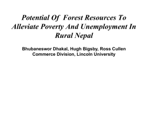 Potential Of  Forest Resources To Alleviate Poverty And Unemployment In