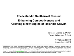 The Icelandic Geothermal Cluster: Enhancing Competitiveness and