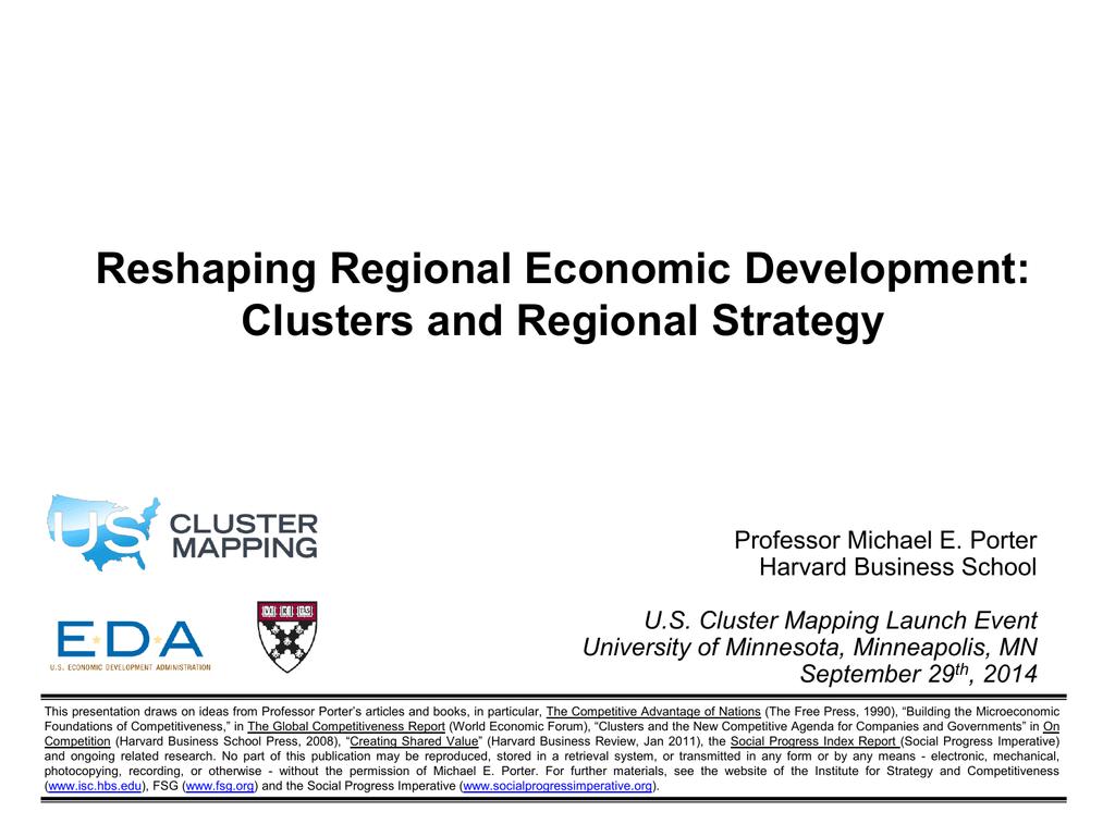 Reshaping Regional Economic Development: Clusters and Regional ...