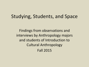 Studying, Students, and Space