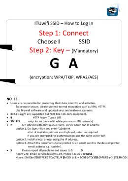 itu@GVA1211 Step 1: Connect Step 2: Key – ITUwifi