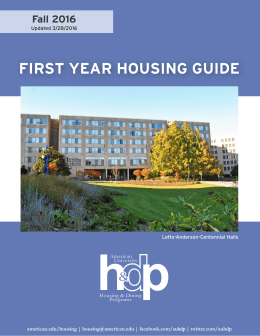 h p FIRST YEAR HOUSING GUIDE & Fall 2016