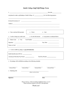 Smith College Staff Gift/Pledge Form