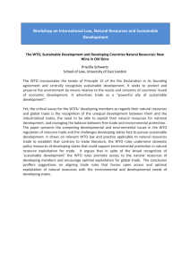 Workshop on International Law, Natural Resources and Sustainable Development